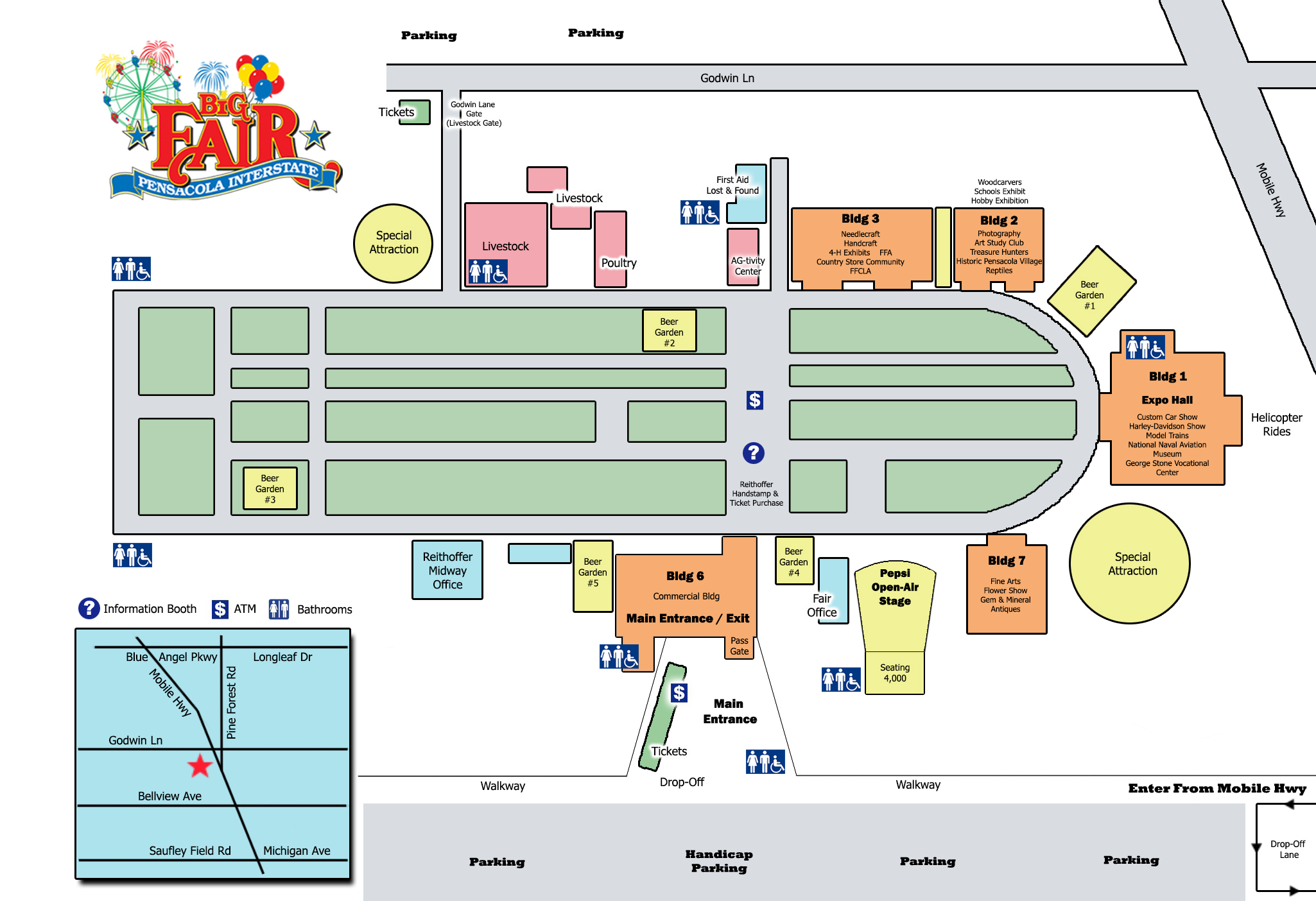 Fairgrounds Map : Pensacola Interstate Fair on map of banks in pensacola, map of hotels daytona beach, map of istanbul hotels, map of washington hotels, map of austin hotels, map of dubai hotels, map of golf courses in pensacola, home in pensacola, map of santa fe hotels, map of marinas in pensacola,